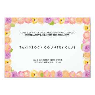 El extracto florece la tarjeta de la recepción invitacion personal