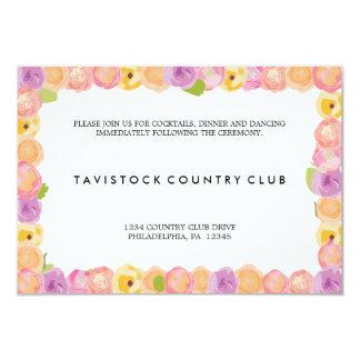 El extracto florece la tarjeta de la recepción invitación 8,9 x 12,7 cm