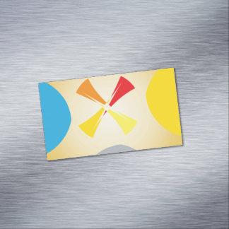 El extracto forma tarjetas de visita magnéticas