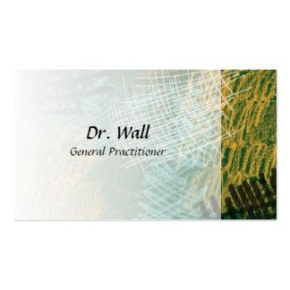 El extracto garabatea tarjetas de visita