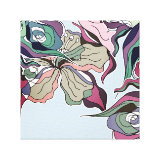 El extracto intrépido alinea arte floral de la