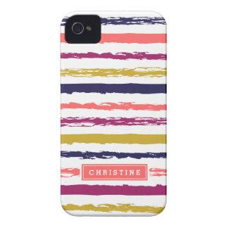 El extracto pintado raya el monograma iPhone 4 Case-Mate cárcasas