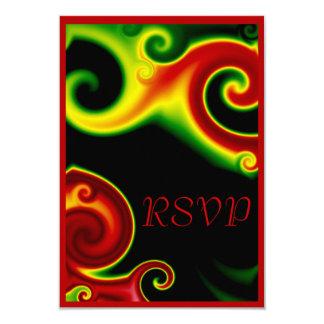 El extracto remolina tarjeta de RSVP Invitación 8,9 X 12,7 Cm