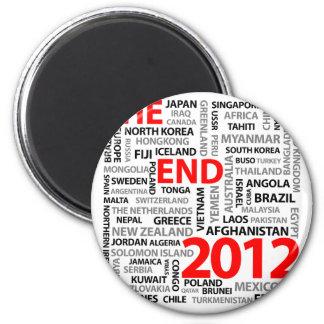El extremo 2012 imán redondo 5 cm