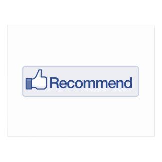 el facebook recomienda el icono gráfico divertido postal