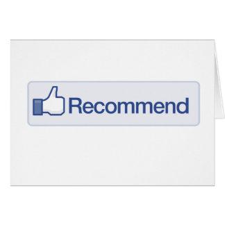 el facebook recomienda el icono gráfico divertido  tarjetas