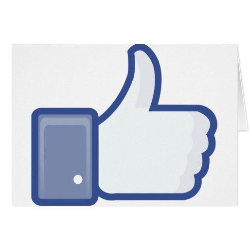 ¡el facebook TIENE GUSTO de mí de manosear con los Tarjetas
