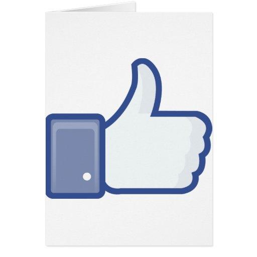 ¡el facebook TIENE GUSTO de mí de manosear con los Tarjeta