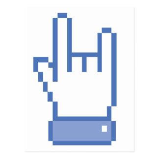el facebook tiene gusto del pixel de la muestra de postal