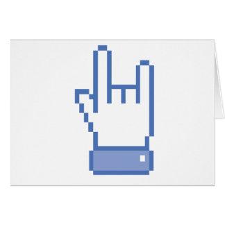 el facebook tiene gusto del pixel de la muestra de tarjeta de felicitación