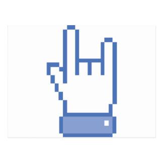 el facebook tiene gusto del pixel de la muestra de tarjetas postales