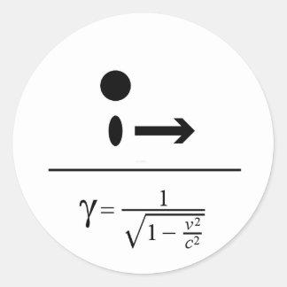 El factor de Lorentz Pegatina Redonda
