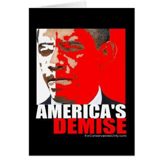 El fallecimiento de América Tarjeta De Felicitación