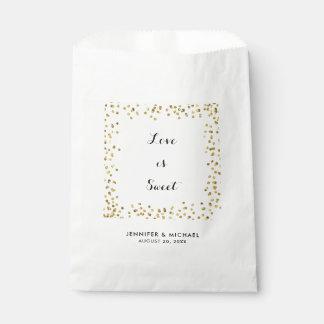 El falso amor del brillo del oro es bolso dulce bolsa de papel