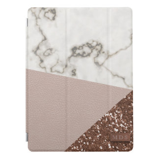 El falso brillo color de rosa del oro se ruboriza cubierta para iPad pro