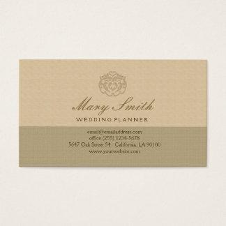El falso lino elegante graba en relieve la tarjeta