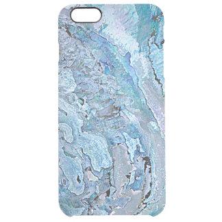 El falso olmo azul púrpura elegante lindo Shell Funda Transparente Para iPhone 6 Plus