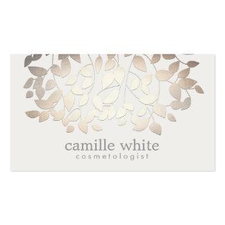 El falso oro de la cosmetología elegante simple sa plantilla de tarjeta de negocio