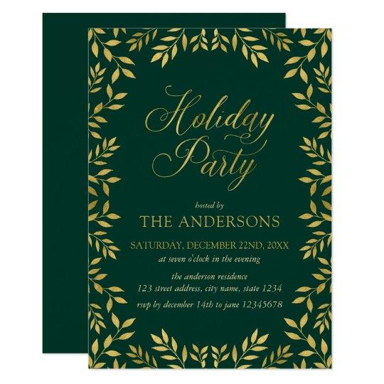 El falso oro elegante sale de la celebración de invitación 12,7 x 17,8 cm