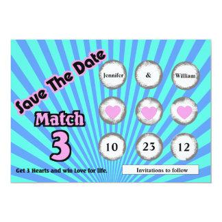 El falso rasguño de la loteria apagado ahorra la invitación 12,7 x 17,8 cm