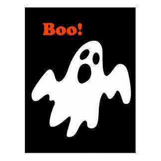 El fantasma asustadizo de Halloween dice abucheo Postal