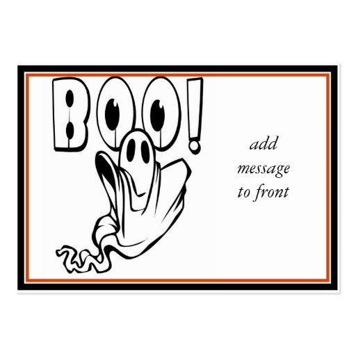 """¡El fantasma de Halloween dice """"ABUCHEO! """" Tarjetas De Negocios"""