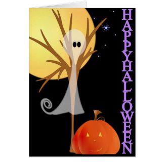 El fantasma de Halloween embroma la tarjeta