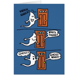 El fantasma del dibujo animado de Halloween del Tarjeta