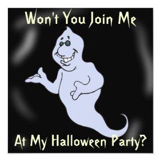 El fantasma grande de Halloween invita Invitación 13,3 Cm X 13,3cm