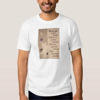 El fantasma y la calabaza (tarjeta de Halloween Camiseta