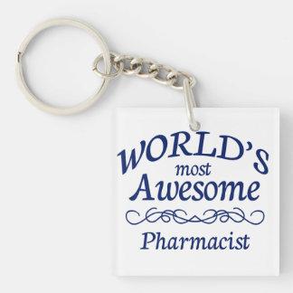 El farmacéutico más impresionante del mundo llavero cuadrado acrílico a una cara