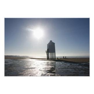 El faro bajo, Burnham en el mar, Somerset, Reino U Fotografia