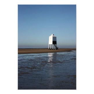 El faro bajo, Burnham en el mar, Somerset, Reino U Arte Fotográfico