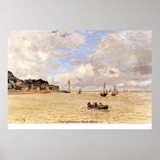 El faro de Claude Monet Póster