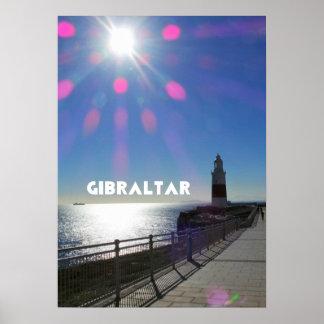 El faro de Gibraltar - papel de poster del valor