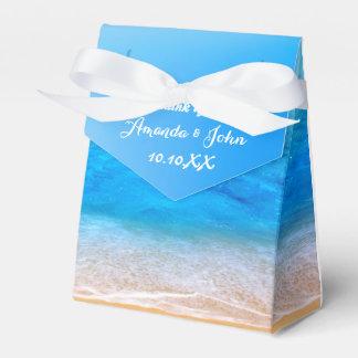 El favor acuático del boda del azul de océano le caja para regalos