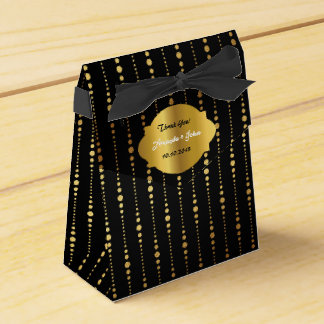 El favor atractivo del boda de oro del art déco le caja para regalos