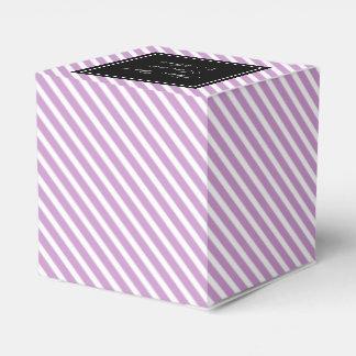 El favor de encargo del boda encajona rayas de la caja de regalos