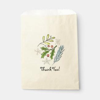 El favor de la invitación del día de fiesta del bolsa de papel