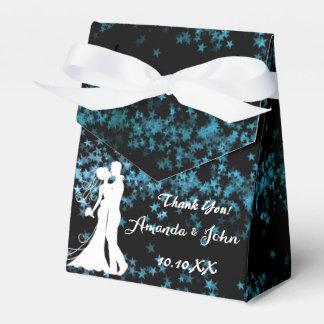 El favor del boda del confeti de las estrellas caja para regalos