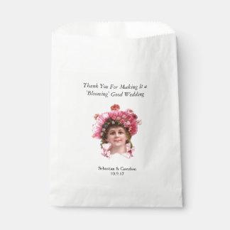 El FAVOR del BODA del VINTAGE del florista Bolsa De Papel