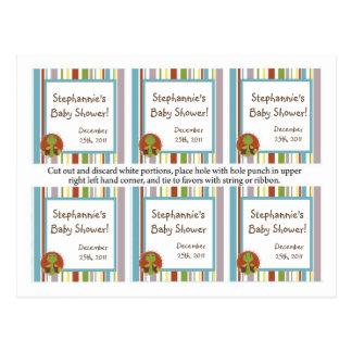 El favor marca safari de los cuentos con etiqueta  tarjetas postales