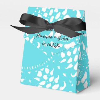 El favor negro blanco del boda de la turquesa azul caja para regalos