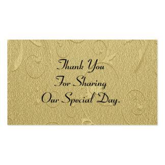 El favor simple del boda del modelo del oro le tarjetas de visita