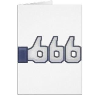 El FB tiene gusto de 666 veces Felicitación