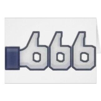 El FB tiene gusto de 666 veces Tarjeta De Felicitación