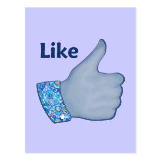 El FB tiene gusto del botón Postal