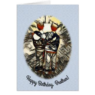 El feliz cumpleaños Brother gemelo modeló el fondo Tarjeta De Felicitación