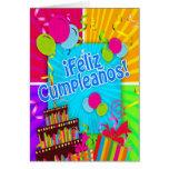 El ¡Feliz Cumpleaños con la diversión colorea la Tarjeta De Felicitación
