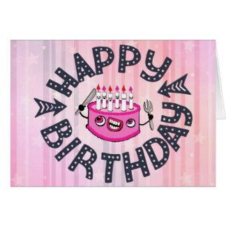 El feliz cumpleaños, deja para comer la tarjeta de